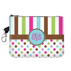 Stripes & Dots Zip ID Case (Personalized)