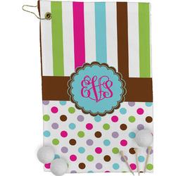 Stripes & Dots Golf Towel - Full Print (Personalized)