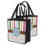 Stripes & Dots Grocery Bag (Personalized)