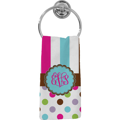 Stripes & Dots Hand Towel - Full Print (Personalized)