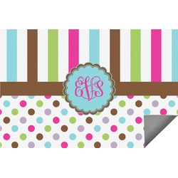 Stripes & Dots Indoor / Outdoor Rug - 3'x5' (Personalized)