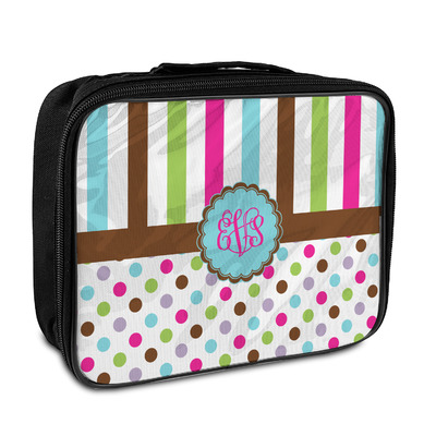Stripes & Dots Insulated Lunch Bag (Personalized)