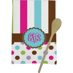 Stripes & Dots Kitchen Towel - Full Print (Personalized)