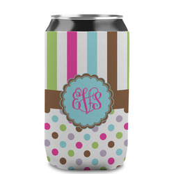 Stripes & Dots Can Sleeve (12 oz) (Personalized)