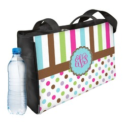 Stripes & Dots Ladies Workout Bag (Personalized)