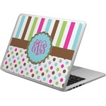 Stripes & Dots Laptop Skin - Custom Sized (Personalized)