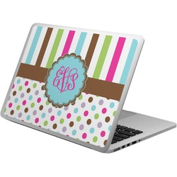 Stripes & Dots Laptop Skin - Custom Sized (Personalized)