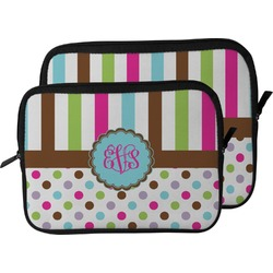 Stripes & Dots Laptop Sleeve / Case (Personalized)