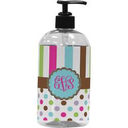 Stripes & Dots Plastic Soap / Lotion Dispenser (Personalized)