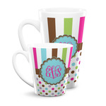 Stripes & Dots Latte Mug (Personalized)
