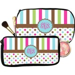 Stripes & Dots Makeup / Cosmetic Bag (Personalized)