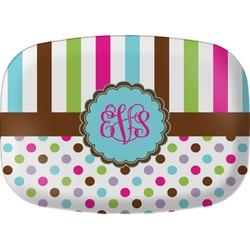 Stripes & Dots Melamine Platter (Personalized)