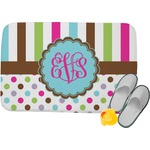 Stripes & Dots Memory Foam Bath Mat (Personalized)