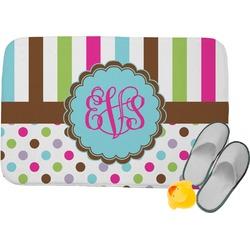 Stripes & Dots Memory Foam Bath Mat (Personalized)