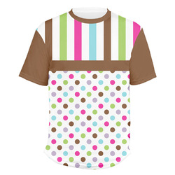 Stripes & Dots Men's Crew T-Shirt (Personalized)