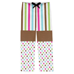 Stripes & Dots Mens Pajama Pants (Personalized)