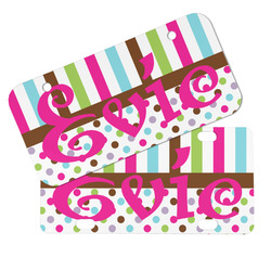 Stripes & Dots Mini/Bicycle License Plates (Personalized)