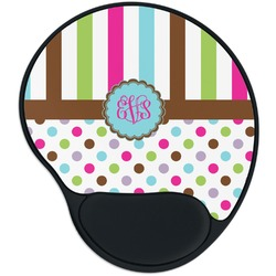 Stripes & Dots Mouse Pad with Wrist Support