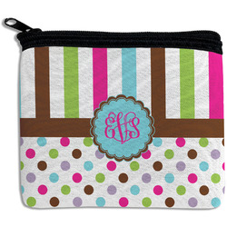 Stripes & Dots Rectangular Coin Purse (Personalized)