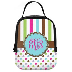 Stripes & Dots Neoprene Lunch Tote (Personalized)