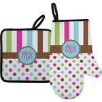 Stripes & Dots Oven Mitt & Pot Holder (Personalized)