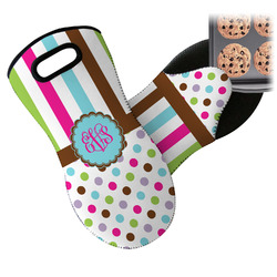 Stripes & Dots Neoprene Oven Mitt (Personalized)