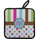 Stripes & Dots Pot Holder (Personalized)