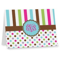 Stripes & Dots Notecards (Personalized)