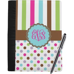 Stripes & Dots Notebook Padfolio (Personalized)