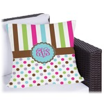 Stripes & Dots Outdoor Pillow (Personalized)