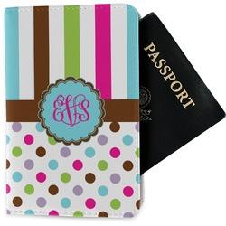 Stripes & Dots Passport Holder - Fabric (Personalized)