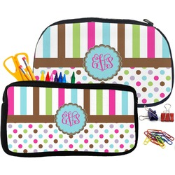 Stripes & Dots Neoprene Pencil Case (Personalized)
