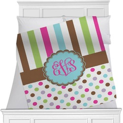 Stripes & Dots Minky Blanket (Personalized)