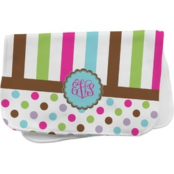 Stripes & Dots Burp Cloth (Personalized)