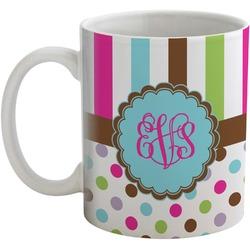 Stripes & Dots Coffee Mug (Personalized)