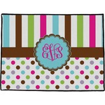Stripes & Dots Door Mat (Personalized)