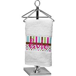 Stripes & Dots Cotton Finger Tip Towel (Personalized)
