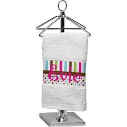 Stripes & Dots Finger Tip Towel (Personalized)