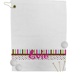 Stripes & Dots Golf Towel (Personalized)