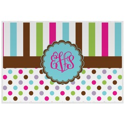 Stripes & Dots Placemat (Laminated) (Personalized)