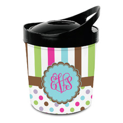 Stripes & Dots Plastic Ice Bucket (Personalized)