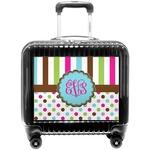 Stripes & Dots Pilot / Flight Suitcase (Personalized)