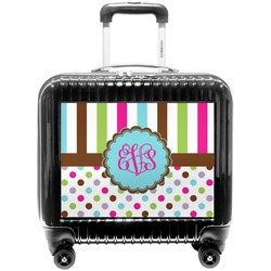 Stripes & Dots Pilot / Flight Suitcase (Personalized)