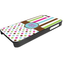 Stripes & Dots Plastic iPhone 5/5S Phone Case (Personalized)