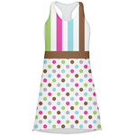Stripes & Dots Racerback Dress (Personalized)
