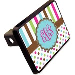 """Stripes & Dots Rectangular Trailer Hitch Cover - 2"""" (Personalized)"""