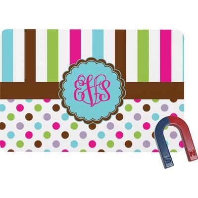 Stripes & Dots Rectangular Fridge Magnet (Personalized)