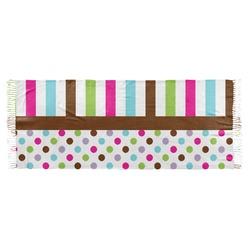 Stripes & Dots Faux Pashmina Scarf (Personalized)