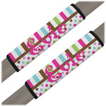 Stripes & Dots Seat Belt Covers (Set of 2) (Personalized)