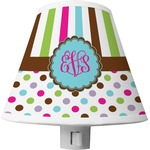 Stripes & Dots Shade Night Light (Personalized)